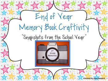 End of School Year Memory Book Craftivity