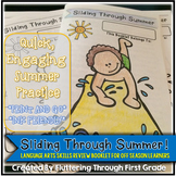 """End of Year Skills Review Booklet ~ """"Sliding Through Summer"""""""