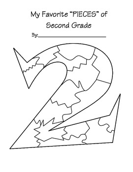 End of School year - Pieces of 2nd Grade