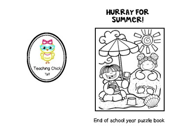 End of School year Puzzle book