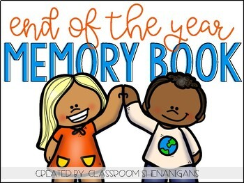 End of The School Year Memory Book FREEBIE