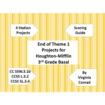 End of Theme 1 Projects for Houghton-Mifflin Grade 3