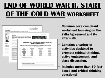 End of World War II, Start of the Cold War - Global/World