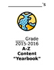 "End of Year A-Z Content ""Yearbook"""