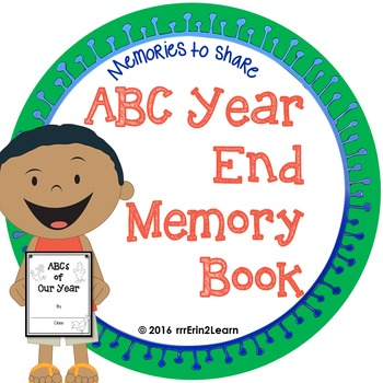 End of Year ABC memory book