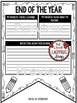 End of Year Activity & End of the Year Writing Poster Pennant