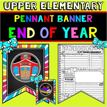 End of the Year Activity: Writing Prompts Banner: End of Y