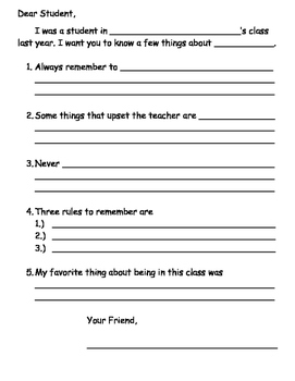 End of Year Activity: Advice Letter Template