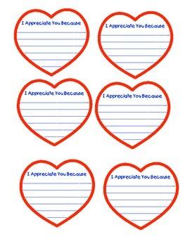 Classroom Management- Thank You/ Appreciation Hearts