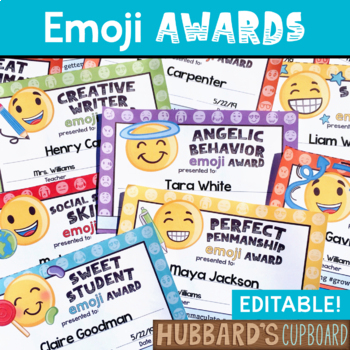 End of the Year Awards -  Emojis with Hashtags