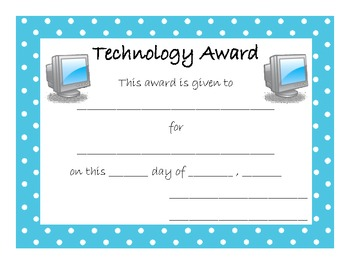 End of Year Award for Technology