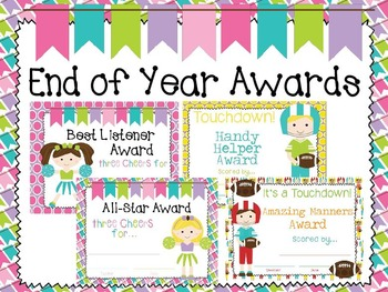End of Year Awards/Certificates US & AUS