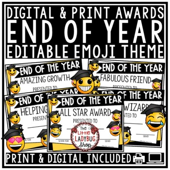 Emoji End of Year Awards  • End of Year Certificates
