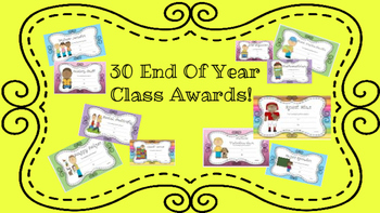 End of Year Awards Pink Chevron
