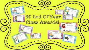 End of Year Awards Yellow Polka Dots