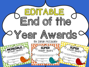 End of Year Awards - Birds