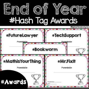 Hash Tag End of Year Awards Polka-Dot