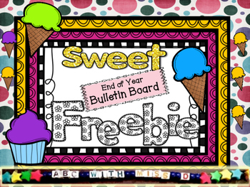 End of Year Bulletin Board Freebie