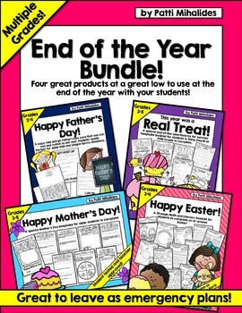 End of Year Bundle: Easter, Mother's Day, Father's Day, En