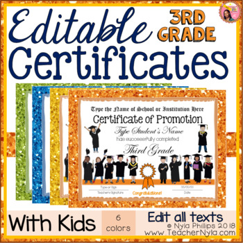 End of Year Certificates - 3rd Grade