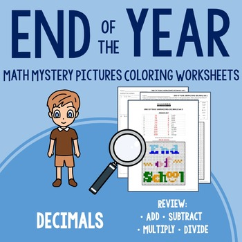 End of Year Coloring Worksheets - Decimals