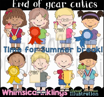 End of Year Cuties Clipart Collection