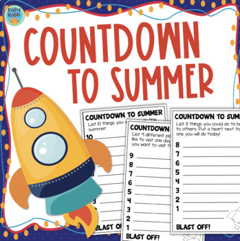End of the Year Writing Prompts: Countdown To Summer