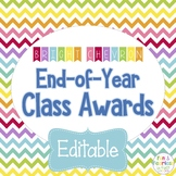 End of Year Class Awards EDITABLE {Bright Chevron}