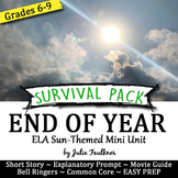End of Year English Lessons for Teens, NO PREP Survival Pa