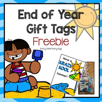 End of Year Gift Tags - FREEBIE!