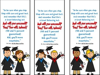 End of Year Graduation Bookmark Gift
