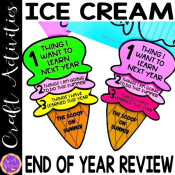 End of Year Ice-Cream Flip Book Craft Activity
