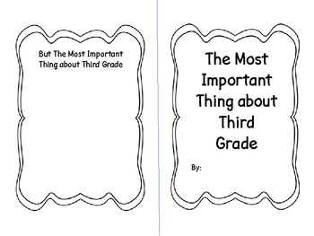 End of Year Important Book Gr. 3