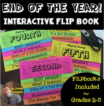 End of Year Interactive FlipBook Activity for Grades 2-5