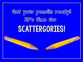 End of Year Just for Fun Scattergories ~ Any grade ~ Editable