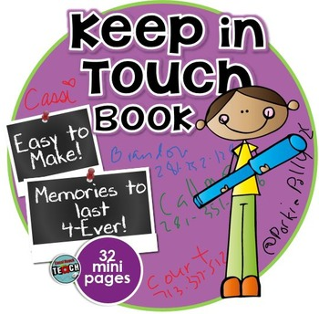 "End of Year ""KEEP IN TOUCH"" Mini Booklet {3rd, 4th, 5th, 6"