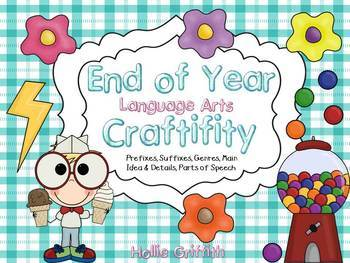 End of Year Language Arts Craftivity Bundle