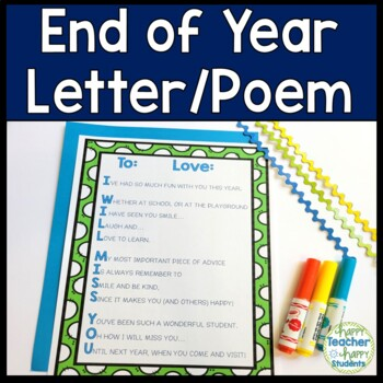 End of Year Letter for Students