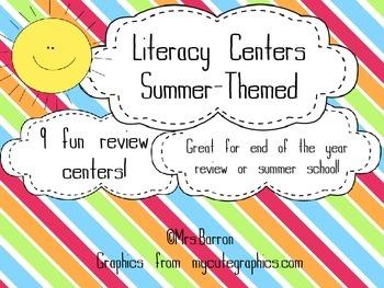 Summer School Literacy Centers