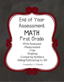 End of Year Math Assessment: First Grade