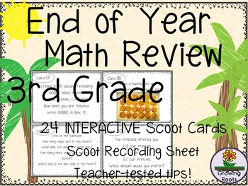 End of Year Math Review Game / Task Cards - 3rd Grade!