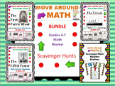 Math Review Scavenger Hunt Bundle Grades 4-6