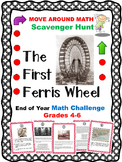 End of Year Math Review Scavenger Hunt Grades 4, 5, and 6