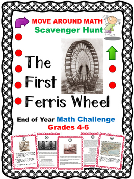 Math Review Scavenger Hunt Grades 4, 5, and 6 The First Fe