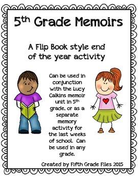 End of Year Memoir Flip Book