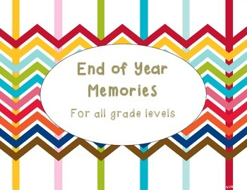 End of Year Memories - Reflection Page