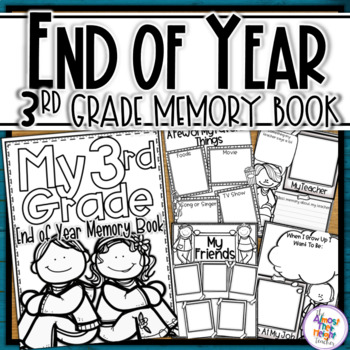 End of Year Memory Book - 3rd Grade (UK spelling & 'year'