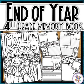 End of Year Memory Book - 4th Grade (UK spelling & 'year'