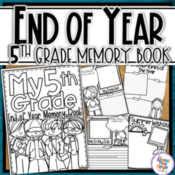 End of Year Memory Book - 5th Grade (UK spelling & 'year'