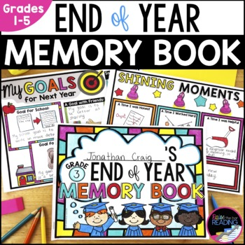 End of Year Memory Book with Free Writing and Writing Temp